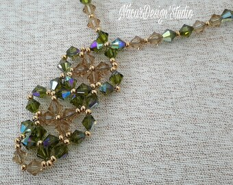 Swarovski Crystal Flowers Necklace Set
