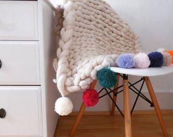 Beautiful Handmade Merino Baby Blanket