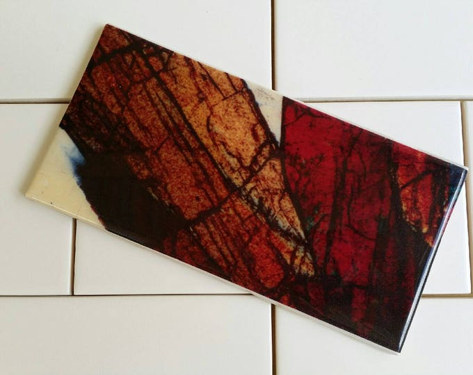 Art and Science - Custom Feature Tiles - Mineral Thin Section Photography - Australian Minerals - Mineral Art