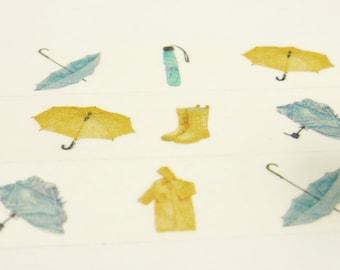 Raincoat - Japanese Washi Masking Tape - 20mm wide - 11 Yard