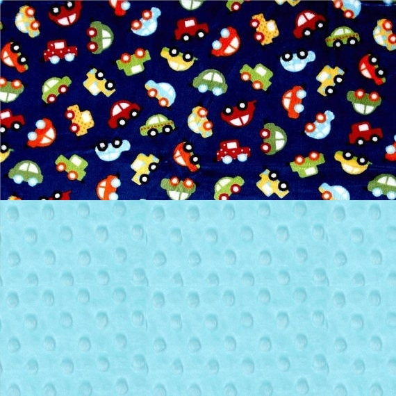 Boy Lovey,  Mini Personalized Baby Blanket Boy, Baby Lovey Minky Blanket, Blue Car Blanket, Baby Shower Gift, Personalized Blanket