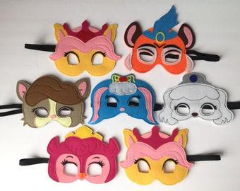 Castle Pets Kids' Felt Mask PARTY FAVORS