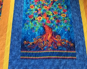 Handcrafted Blooming Tree of Life quilt