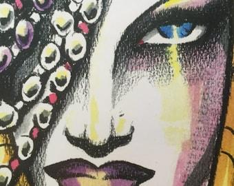 DECO GIRL art print