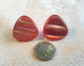 Vintage 50s Pink Moonglow Earrings for Pierced Ears.