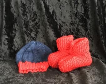 Hand Knitted Newborn Baby Set