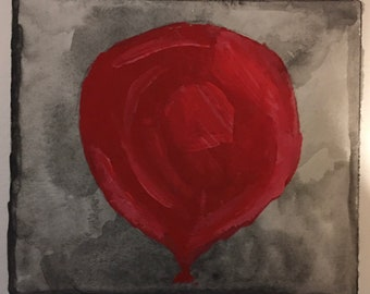 Red Balloon digital art print