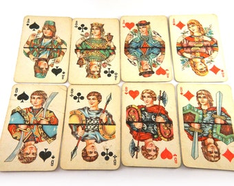 playing cards, deck of cards in Perfect Condition, Vintage playing cards, Vintage deck of cards, Vintage poker cards