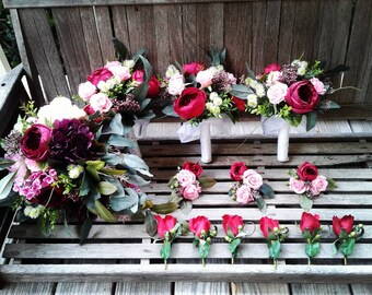 Complete Silk Bohemian Wedding, Wedding flowers