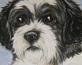 Pet Painting Portrait Custom Personalized 8x10