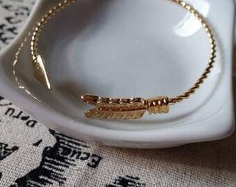 Love Bangle Bracelet Gold 6.5 cm