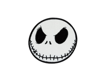 Jack Skellington Embroidered Iron On Patch Iron on Applique