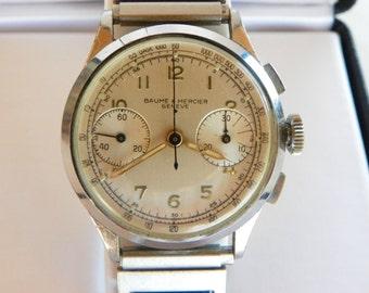 Vintage Baume & Mercier Chronograph Watch