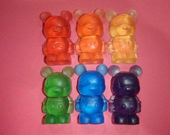 Rainbow Cartoon Mouse Glycerin Soap Set