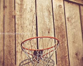 Fine Art Photography,Barn Basketball-Old Farm Basketball Hoop,Vintage, Mancave, Boy's room, nursery,Athletic