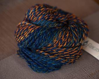BFL Worsted Weight Yarn - Orange/Blue