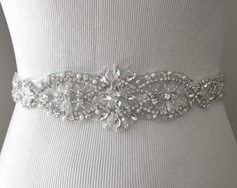 Sale Bridal Sash, Bridal Belt, Wedding Sash, Bridesmaid Belt, Crystal Sash, Rhinestone Belt, Sash, Wedding Dress Belt, Style 81
