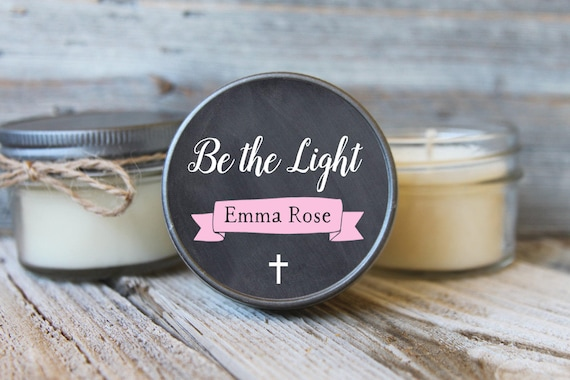 12 - 4 oz Baptism Favor//First Communion Favor//Soy Candle Favor//Personalized Baptism Favor//Shower Favor//Chalkboard Favors//Baptism