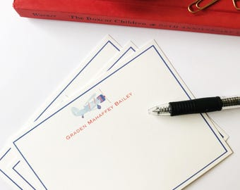 Watercolor Airplane Stationery (25)