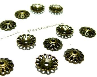 Set of 30 cups P1413Y bronze metal caps