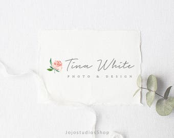 Photography Logo Design, Minimalist Logo Design, Premade Logo Branding, Photography Branding Package, Floral Logo, Business Logo, L130