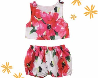 Summer Floral Top with Bloomers
