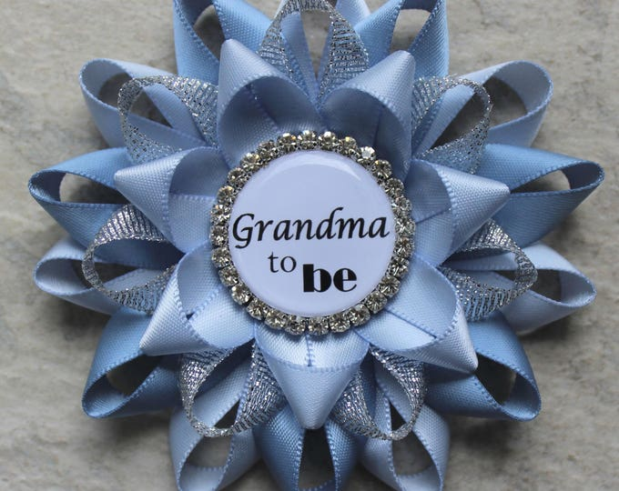 Blue Baby Shower Pins, Boy Baby Shower, Baby Boy Shower Ideas, Baby Shower Decorations, New Grandma Gift, Ice Blue, French Blue, Silver