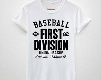 4b95df95ddaa Baseball First Division 82 trend geek fashion hype trendy men s   Unisex t- shirt tee tops vest