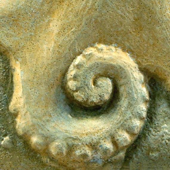 Octopus Art Nature Sculpture Wall Tile Ocean Beach Wall