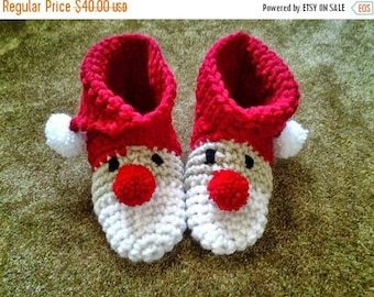 Clearance Woman's Santa Slippers