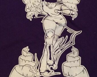 Roller Derby XL Tshirt Cen-Tex Sirens Purple