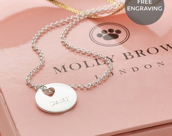 Personalised Sterling Silver 'Hope' Small Heart Necklace