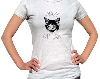 Funny Cat Shirt - Crazy Cat Lady - Cat Tshirt - Cat Lover Gift - Kitten Shirt - Funny Shirt - Cat T-Shirt - Cat T Shirt - Cat Lover Shirt