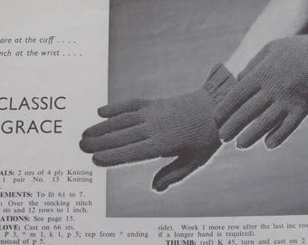 Vintage (1940s) knitting book, 'Glove Book' by Paragon, Number 78
