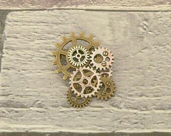 Steampunk Brooch, Cog Brooch, Steampunk Pin, Cog Pin, Steampunk Jewellery, Cog Jewellery, Steampunk Jewelry, Cog Jewelry