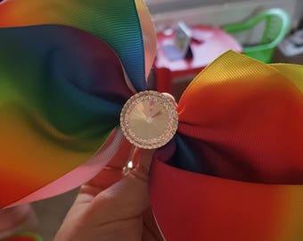 Large rainbow clip