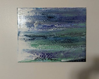 "11""x14"" Original Abstract Fluid Painting, Acrylic on stretched canvas"