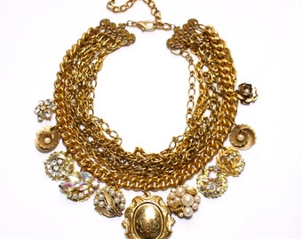 The Everything Statement Necklace Vintage Repurposed