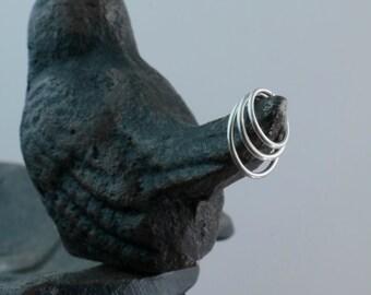 Ultra Super Tiny Nose Rings, One Hoop, Set of Two, or Set of Three, Sterling Silver, 20 gauge, 22 gauge, Endless Hoop