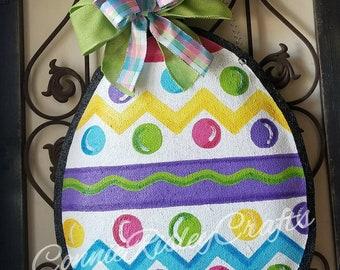 Easter Egg Burlap Door Hanger