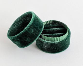 New! Double Ring Box - Emerald