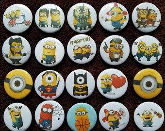 Minions Button Badges x 20. Pins. Wholesale. Collector. Bargain :0)