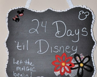 Countdown To Disney Vacation Chalkboard