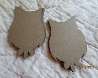 Small Owl Chipboard Blanks - DIY Crafts- Shapes for Decorating- Small Owl Shape-Unfinished- Alterable Art