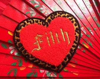 Filth Embroidered Iron On Patch