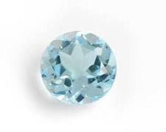 Round Faceted Top Genuine (Natural) Sky Blue Topaz 4mm to 11mm. 812-511