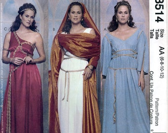 McCall's 3514 Sewing Pattern for Misses' Greek and Roman Costumes - Uncut - Size 6, 8, 10, 12