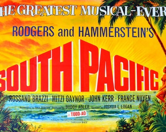 """Mitzi Gaynor - South Pacific - Mini Poster - (A4 Size - 210mm x 297mm - 8.25"""" x 11.75"""") Ideal For Framing"""