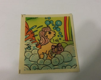 My Little Pony G1 Panini Sticker #146 featuring Cotton Candy