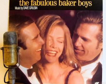 "Jeff Bridges Movie Soundtrack Vinyl Record 1980s Jazz Score Easy Listening Stage & Screen Dave Grusin ""The Fabulous Baker Boys"" (1989 Grp)"